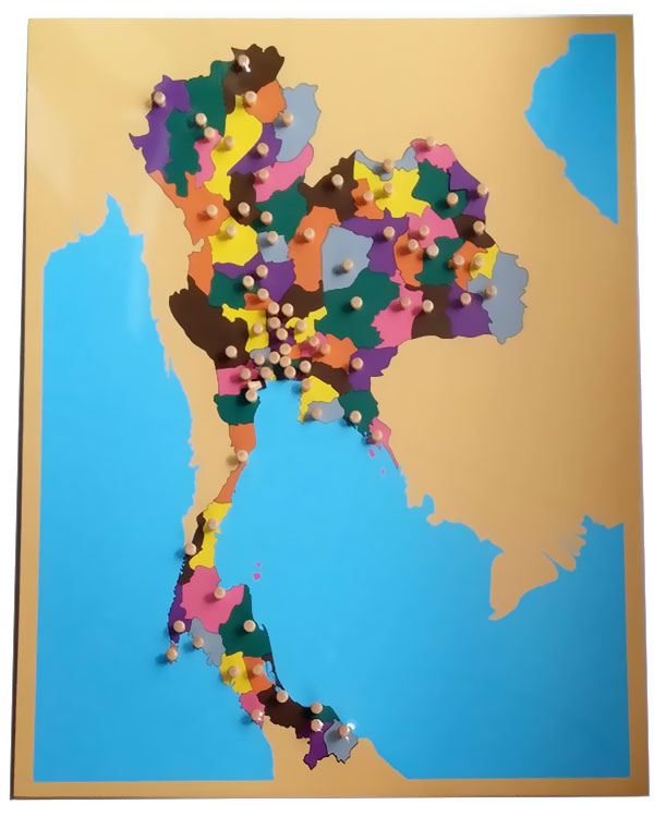 Montessori map of Thailand